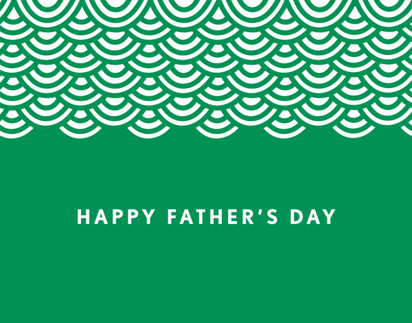 Green Wave Father's Day Card