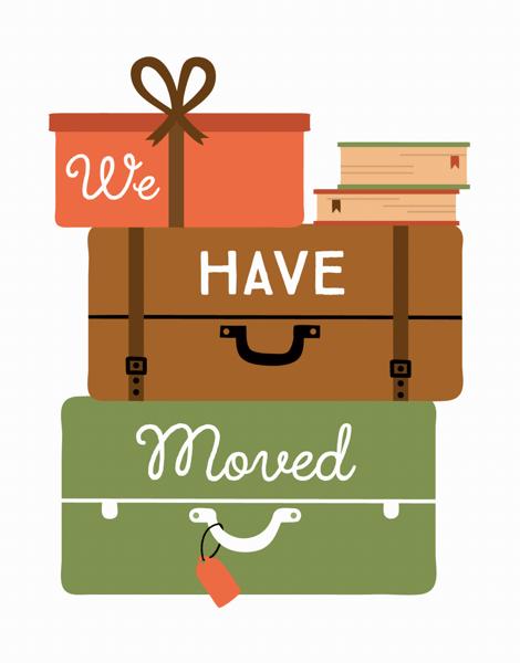 Stylish Suitcases Change of Address Card