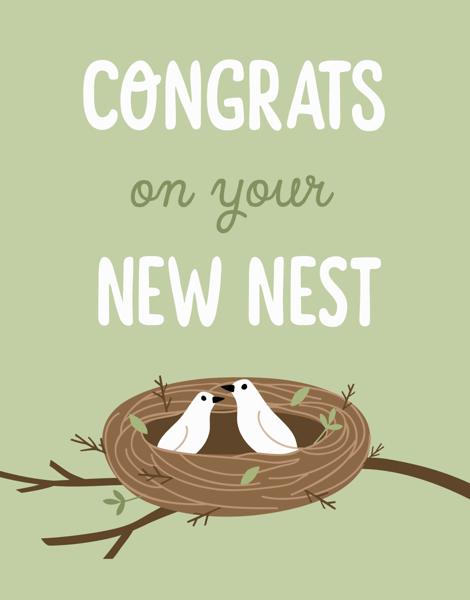 New Nest Moving Card