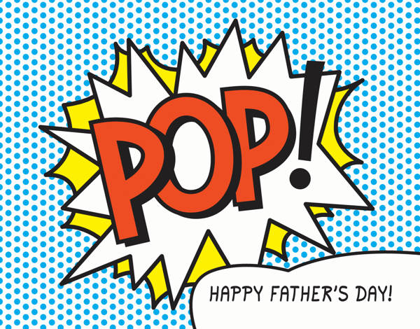 Pop Art Graphic Father's Day Card