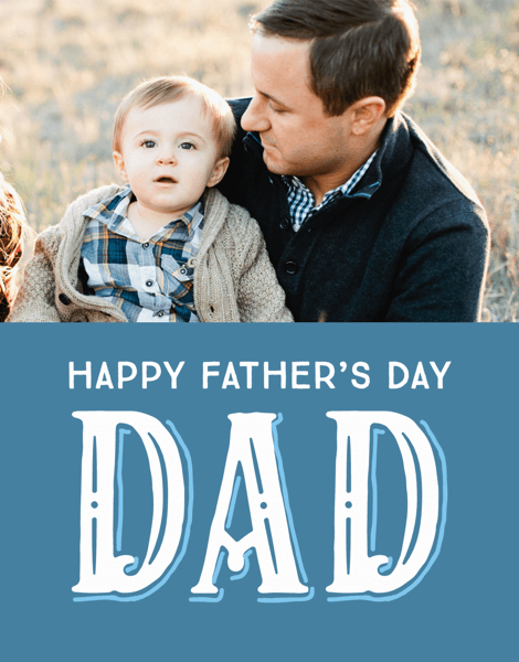 Vintage Lettering Father's Day Card