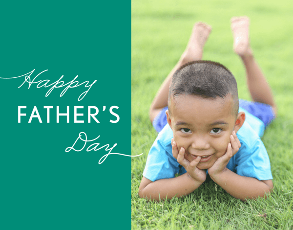 Simple Green Custom Father's Day Card