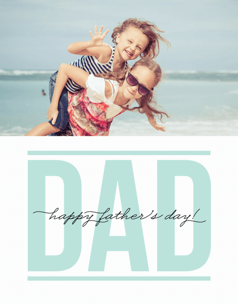Mint Script Father's Day Card