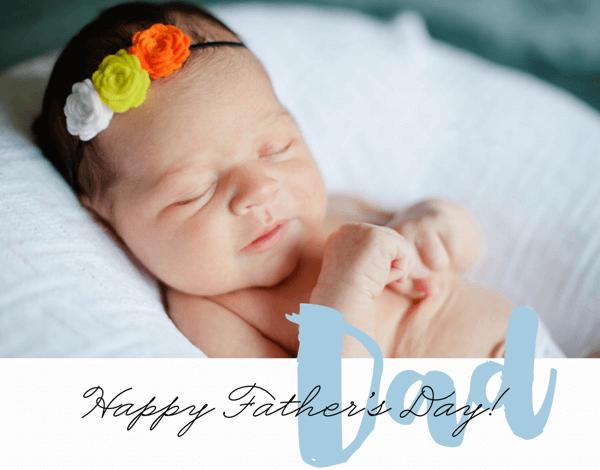 Custom Brushy Father's Day Card