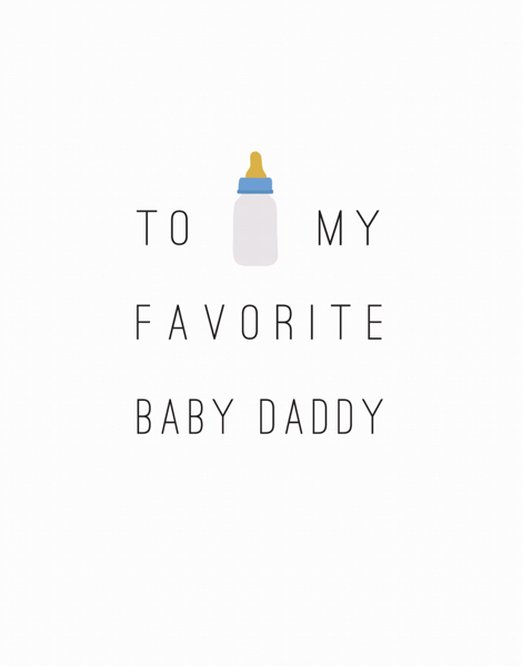 Funny Baby Daddy Father's Day Card