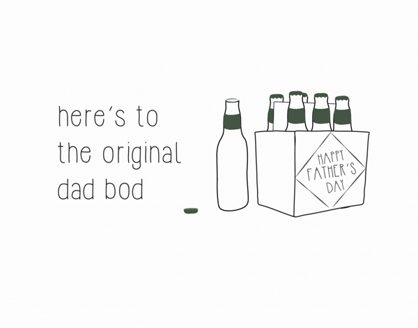 Sarcastic Dad Bod Father's Day Card