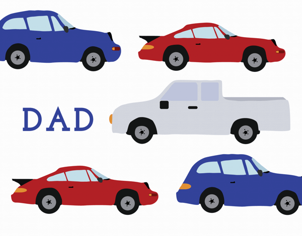 Car Pattern Father's Day Card