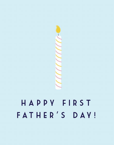 Sweet First Father's Day Card