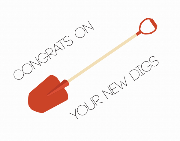 New Digs Moving Congratulations Card