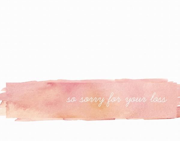 Watercolor Stroke Sympathy Card