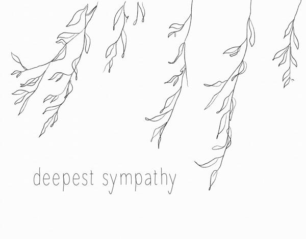 Willow Sketch Sympathy Card