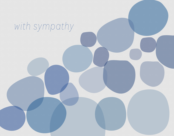 Sympathy Card with Blue Stones
