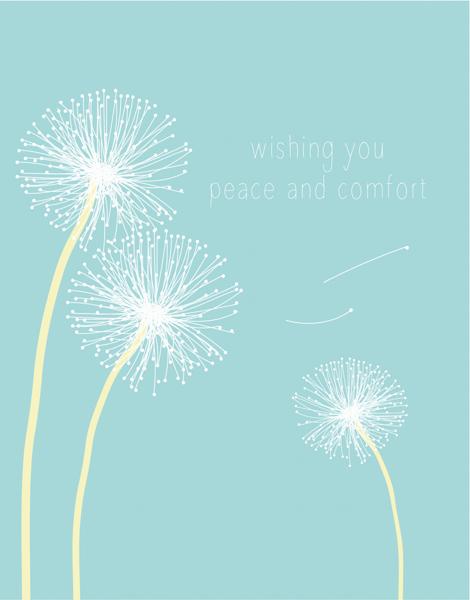 Dandelion Sympathy Card