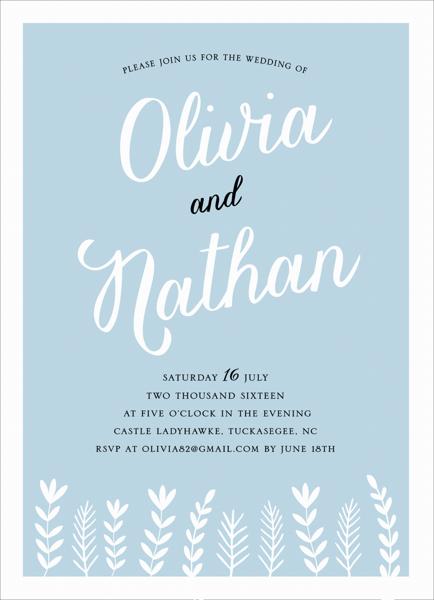Charming Branches Wedding Invite
