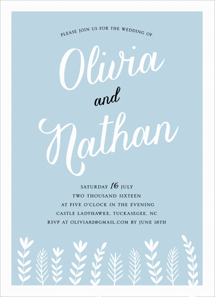 Charming Branches Wedding Invite