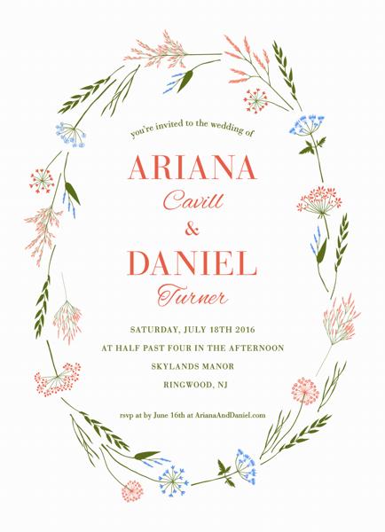 Wildflowers Wedding Invitation
