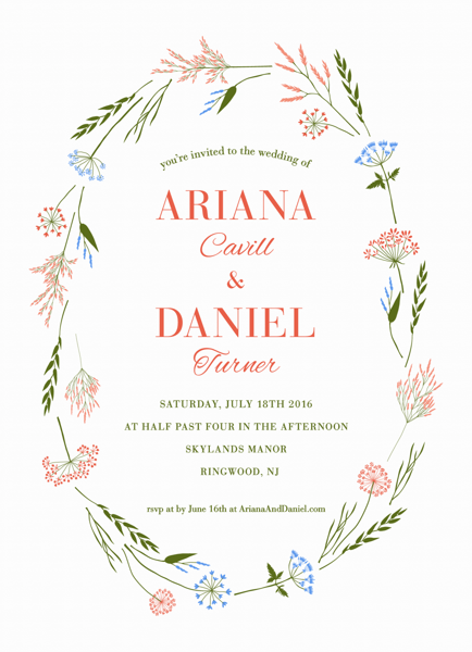 Wildflowers Wedding Invitation