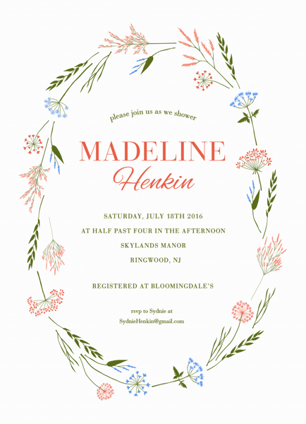 Wildflowers Bridal Shower Invite