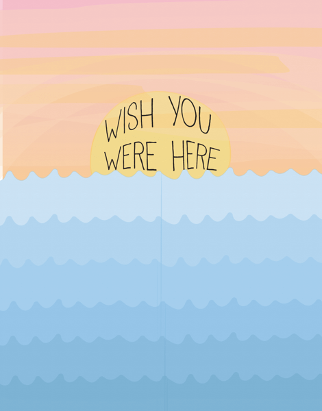 Sunset Wish You Were Here Card