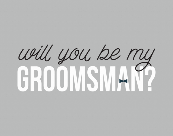 Bow Tie Will You Be My  Groomsman Card