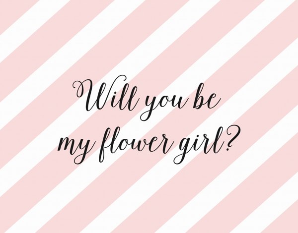 Pink Stipend Will You be My Flower Girl Card