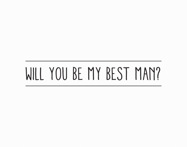 Simple Will You Be My Best Man Card