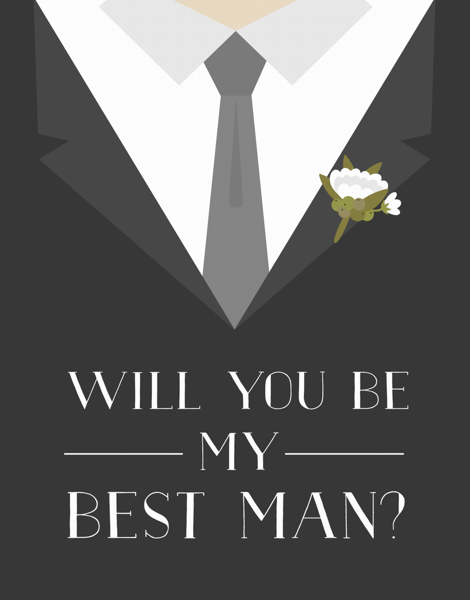 Tuxedo Will You Be My Best Man Card