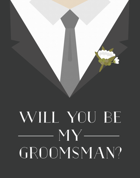Tuxedo Will You Be My Groomsman Card