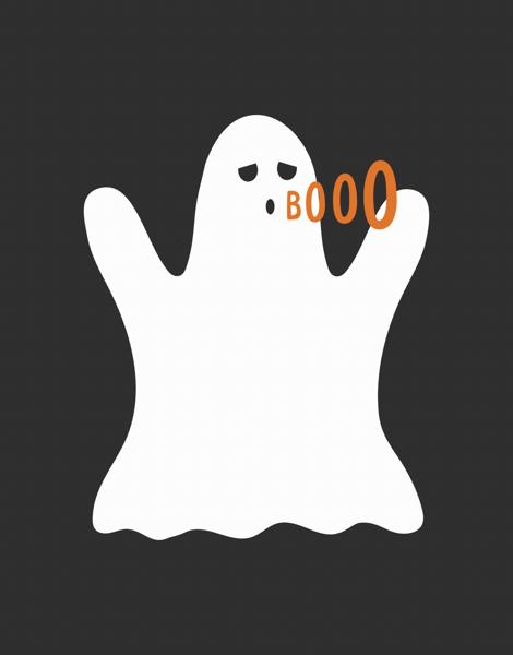Spooky Ghost Halloween Card