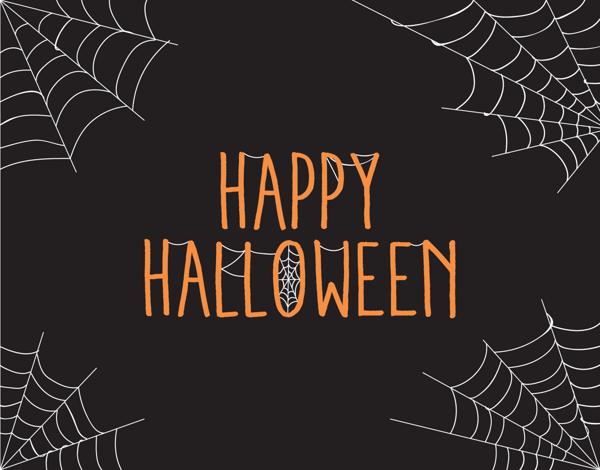 Spider Web Happy Halloween Card