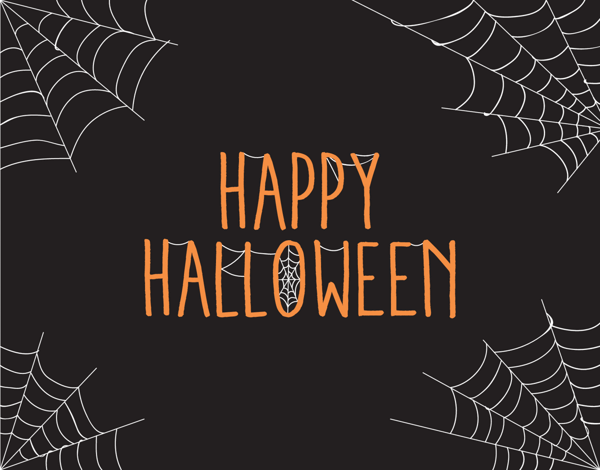 Spider Web Happy Halloween Card