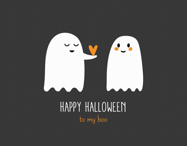 Ghosts My Boo Halloween Card