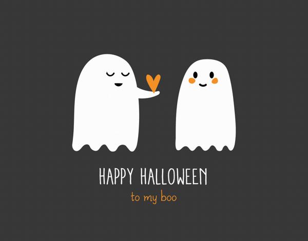 Ghosts My Boo Halloween Card