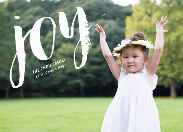Joy brushed font Photo Holiday Card
