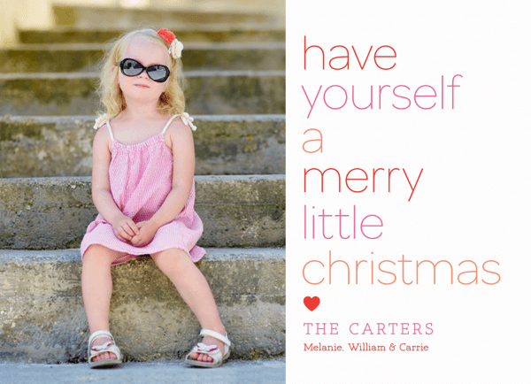 Custom Photo Merry Little Christmas Card