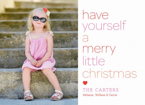 Custom Photo Merry Little Christmas Card