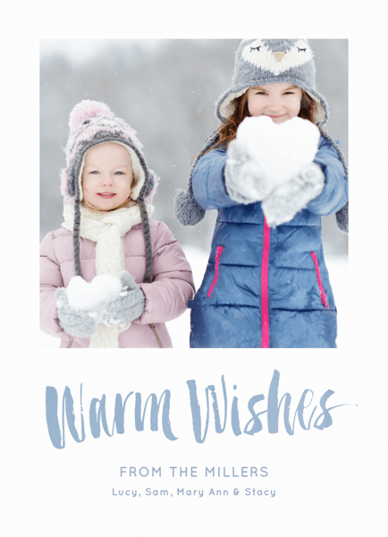 Painted Warm Wishes Holiday Card