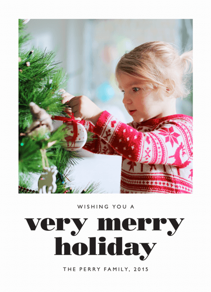 Simple Bold Merry Holiday Card