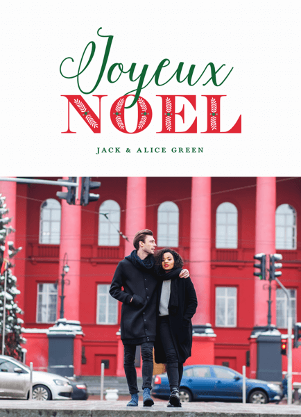 Joyeux Noel Photo Holiday Card