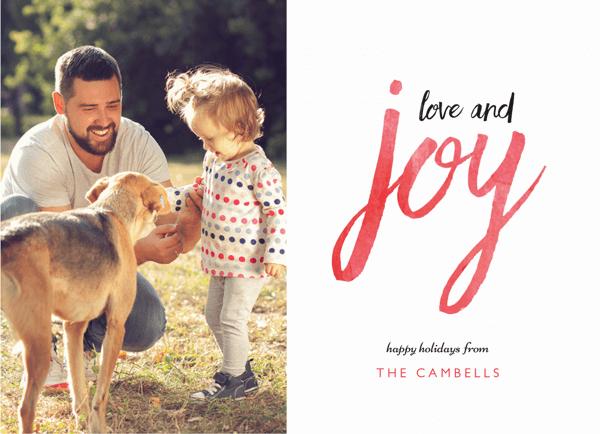 Love and Joy Brush Holiday Card