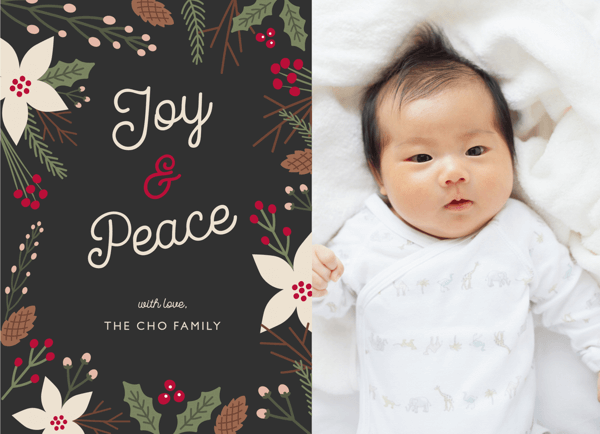 Winter floral Holiday Card
