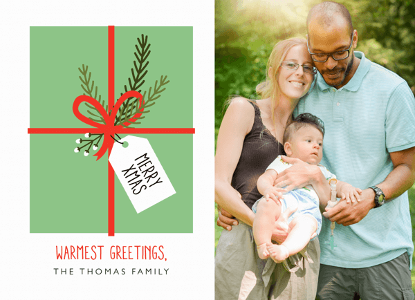 Gift Tag Xmas Photo Christmas Card