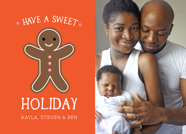 Gingerbread Man Photo Holiday Card