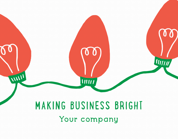 Making Business Bright Company Holiday Card