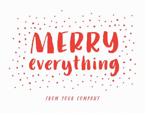 Red Merry Everything Business Holiday Card