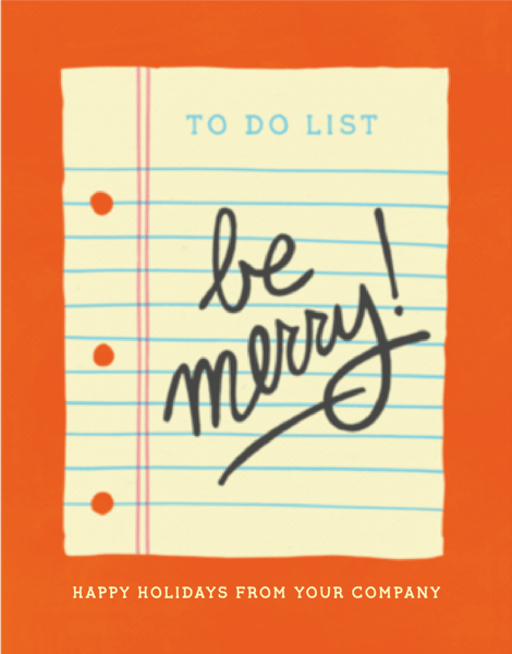 Merry To Do List Company Holiday Card