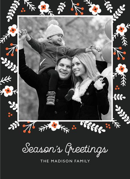 Folk Pattern Seasons Greetings