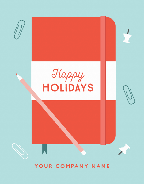 custom company holiday greeting card