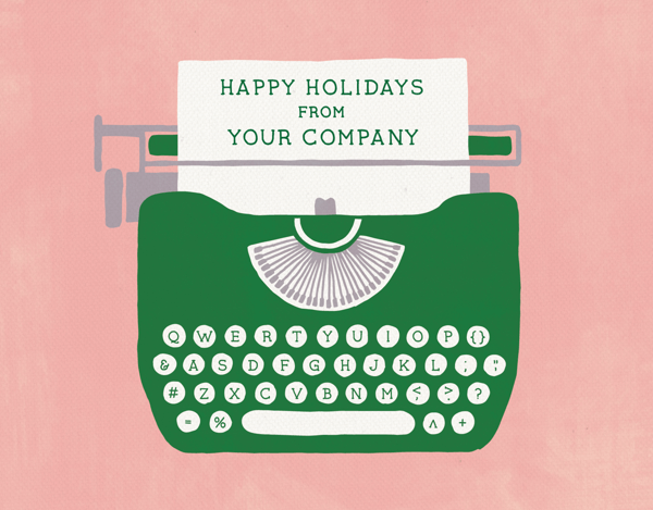 unique company holiday card