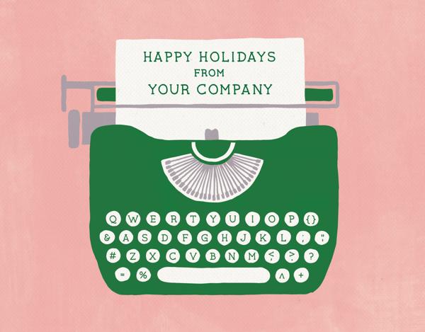 unique company holiday card